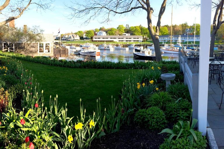 Sale boats by restaurant in Ogunquit, Maine