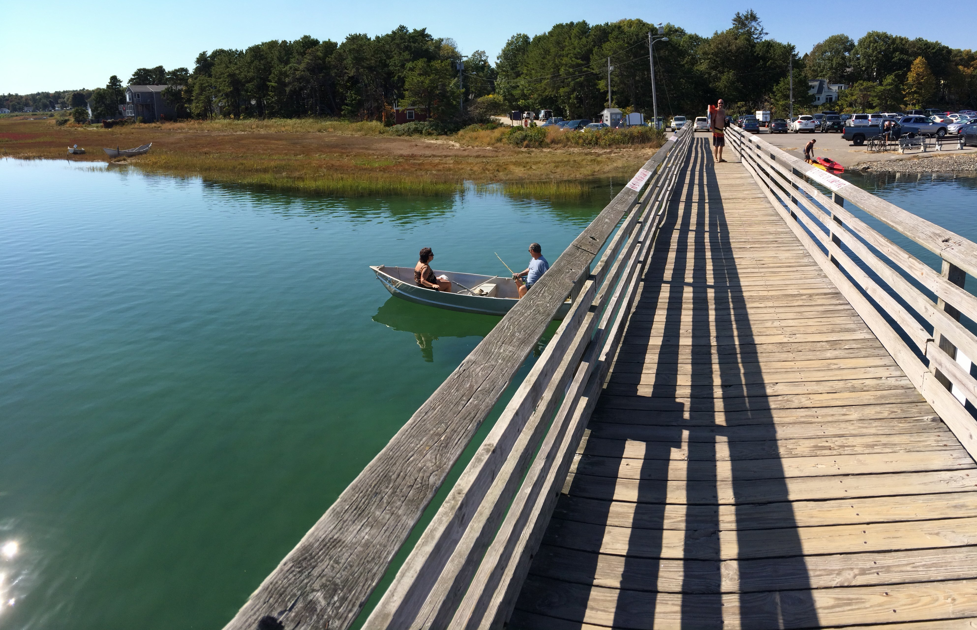 Walking Bridge With Footbridge Beach Parking Lot In Ogunquit Maine