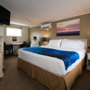 King Bedroom at Footbridge Motel in Ogunquit, Maine