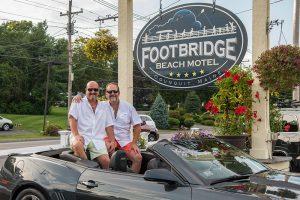 Footbridge Beach Motel's owners, Scott and Mark
