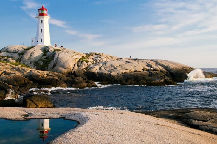 Lighthouse on a sunny day
