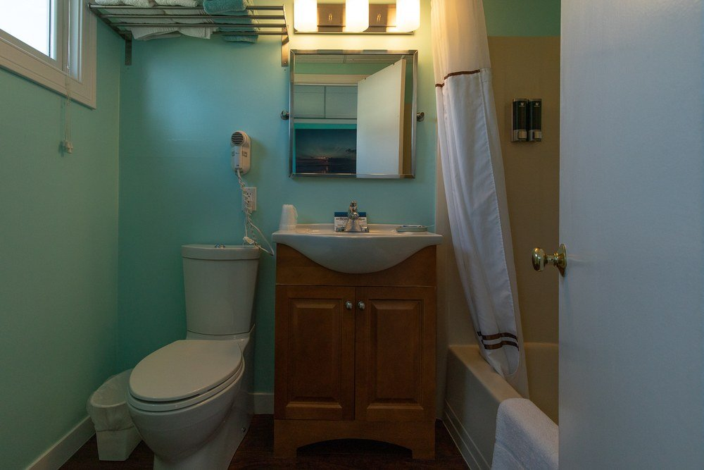 Footbridge Motel Room 07 | Restroom