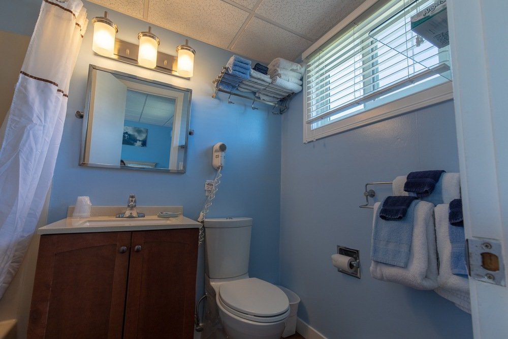 Footbridge Motel Room 08   Bathroom