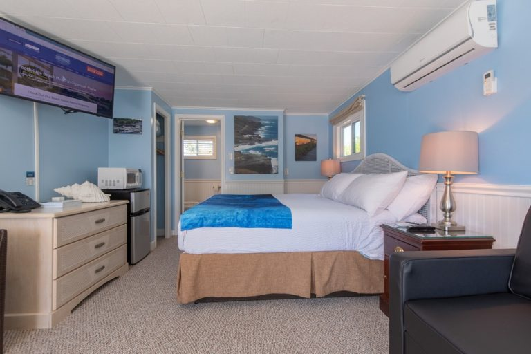 Footbridge Motel Room 12 | Side View Entrance