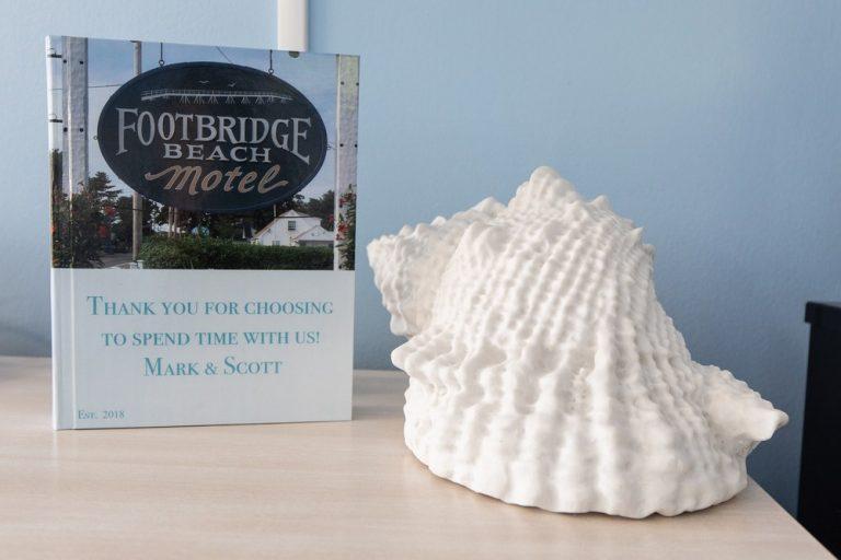 Footbridge Motel Room 12 | Seashell Decoration
