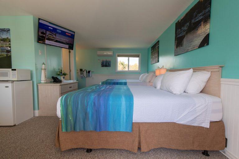 Footbridge Motel Room 15 | Side View Entrance Side