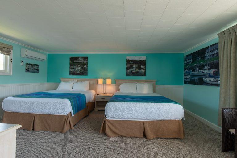 Footbridge Motel Room 17 | Sleeps Two Queen Beds