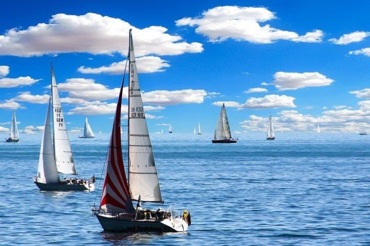boats sailing in the ocean